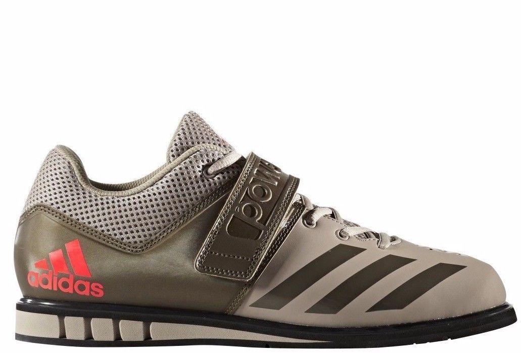 Nuevo Hombre Adidas Powerlift.3.1 Zapatos Halterofilia BA8017 Beis verde Oliva