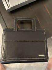 Franklin Covey Full Grain Leather Zip Planner Binder Handles