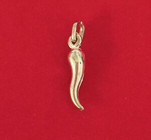 New 9ct yellow gold cornicello charm italian horn chilli corno lucky image is loading new 9ct yellow gold cornicello charm italian horn aloadofball Choice Image