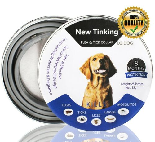 Collar de pulgas y garrapatas para perros Impermeable Perro Anti Pulgas Cuello Natural /& Safe