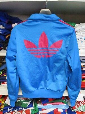 Veste ADIDAS sport bleu rose rétro vintage TREFOIL tracktop jacket femme 40 | eBay