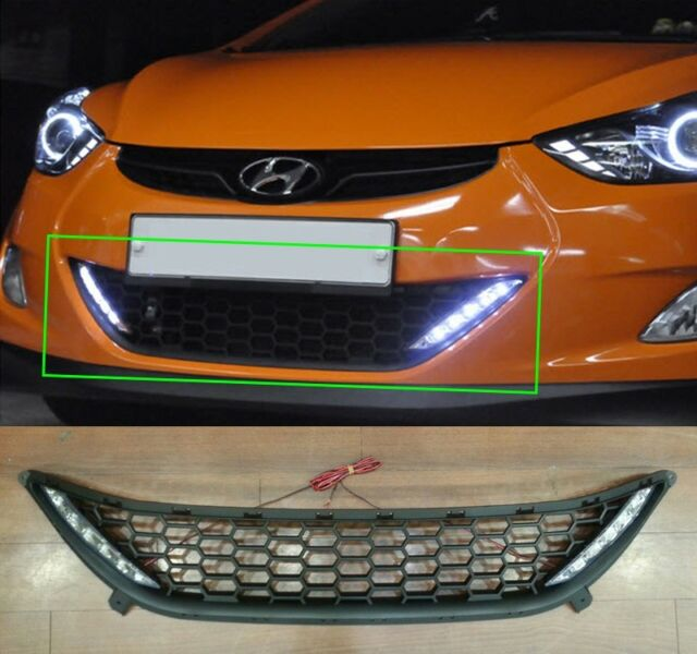 LED DRL Day Light and Grille Set for Hyundai 2011-2013 Elantra Avante MD