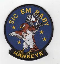 Sic Em Baby/Hawkeye BC Patch Cat No M5163