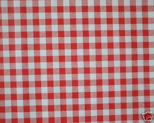 Image Is Loading 20m Roll Vinyl Wipe Clean Red Gingham Wipeable
