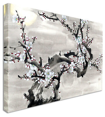 Japanese / Chinese Painting Cherry D Blossom Canvas Wall Art Print