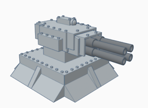 28mm Autocannon Turret Double Pack (Culverin Models)