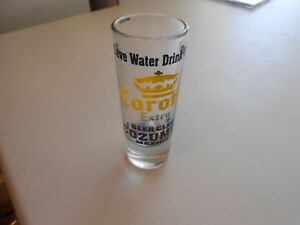 Corona-Extra-Beer-Club-Cozumel-Mexico-Tall-Clear-Shot-Glass