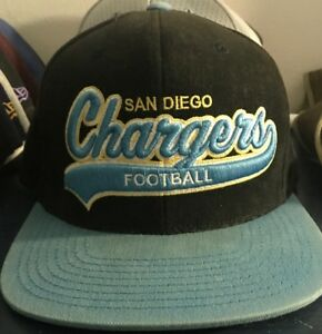 80e33ae77a5 NFL Mitchell Ness San Diego Chargers Football Logo Snapback Hat Cap ...