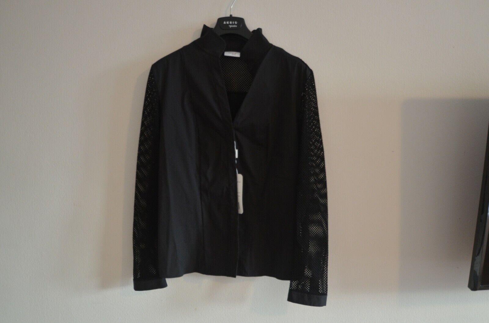 New AKRIS Punto Woherren Blouse Shirt Top schwarz Long Sleeves Retail  NWT 10