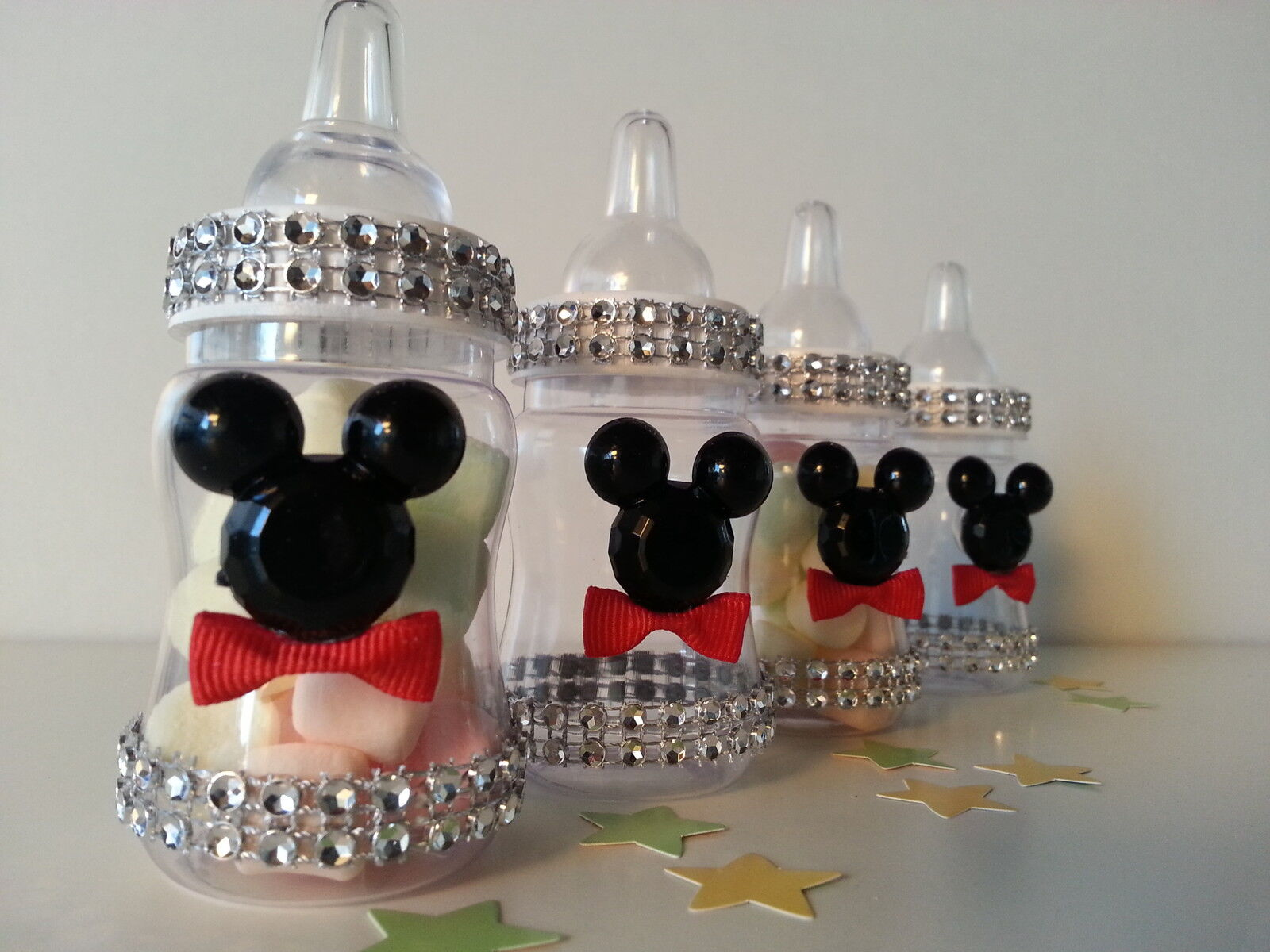 Exceptional 12 Mickey Mouse Fillable Bottles Baby Shower Favors Prizes Game Boy  Decorations | EBay