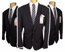 "Taylor & Wright Mens Black Pinstripe 2 piece suit Ch44""L,W36"" L31"" Tailored Fit"
