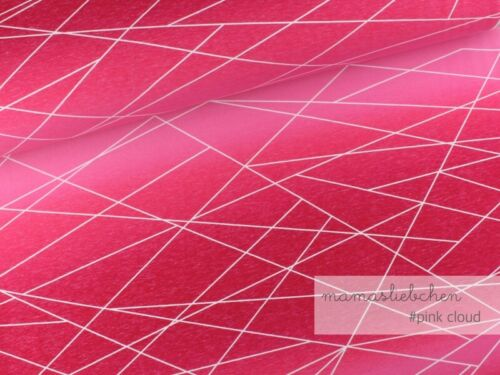 "Jersey-Stoff Mädchen Damen rosa Linien /""Verlaufs-shapelines #pink-cloud/"" 0,5m"