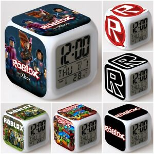 Details about Roblox Game Cube LED Night Light Digital Alarm Clock Color  Changing Kids Gift
