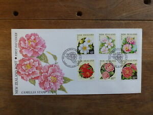 NEW-ZEALAND-1992-CAMELLIAS-SET-OF-6-STAMPS-FDC-FIRST-DAY-COVER