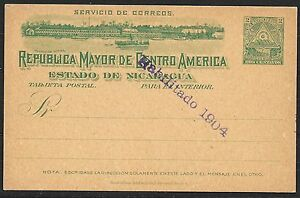 Nicaragua covers 1904 ovpt PC not sent