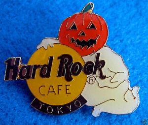 Tokyo-Giapponese-Halloween-Zucca-Testa-Ghost-Classico-Logo-1993-Hard-Rock-Cafe-A