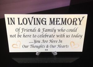 IN-LOVING-MEMORY-Table-PLAQUE-FREE-STAND-Look-At-Our-Other-LOVELY-PLAQUES
