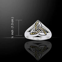 Celtic Trinity Sterling Silver Ring By Peter Stone