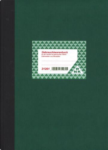 Trödelbuch, Trödlerbuch RNK Gebrauchtwarenbuch