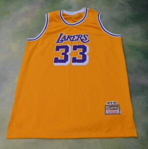 new style e57eb e1010 Details about Mitchell & Ness NBA Los Angeles Lakers Kareem Abdul Jabbar  Jersey #33 Size 56.