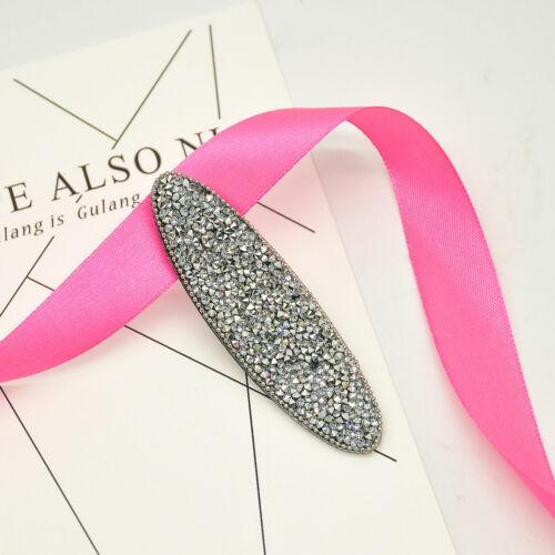 Women/'s Bling Cristal Strass Coiffure Hair Clip Barrette Épingle À Cheveux Accessoires