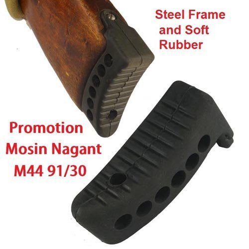 "Black Mosin Nagant Rifle Stock 1"" Recoil Buttpad M44 M38 Butt Pad 91/30 Type 53"