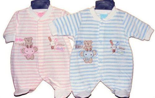 Premature Baby playsuit Velour all in one babygro Newborn Baby Tiny Baby