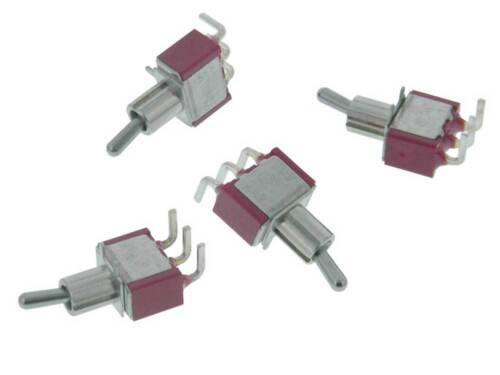 SPDT On-On Mini Toggle Switch PC Mount Pack of 4 *35252 SW