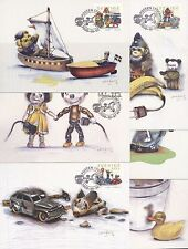 Sweden 2000 FDC - Maxi Card no 157 - 162 - 6 Cards - Toys