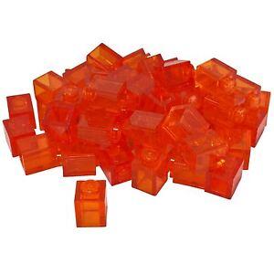 30-NEW-LEGO-Brick-1-x-1-Trans-Orange