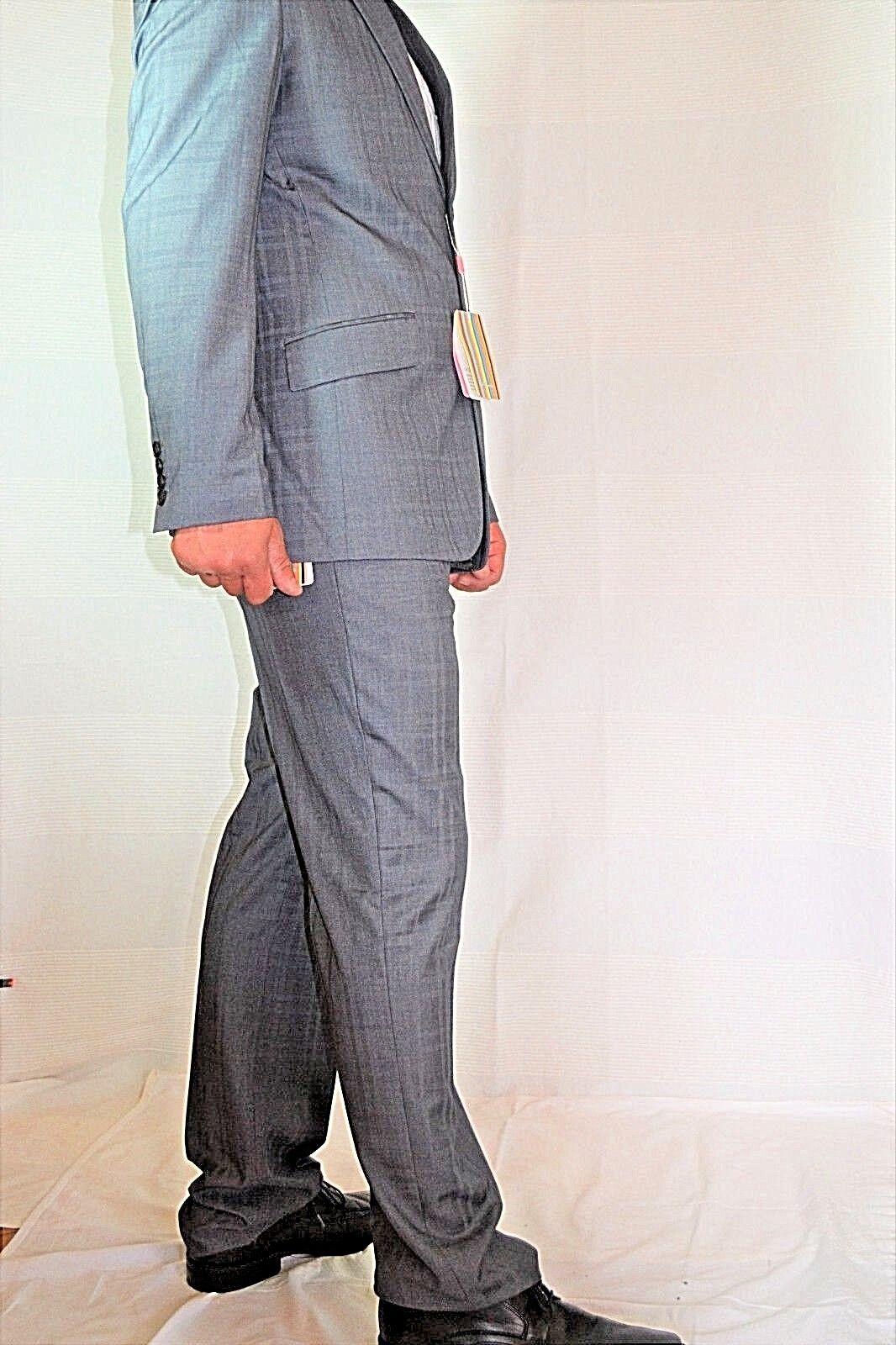 PAUL SMITH LONDON Anzug Sakko + Hose Mens Suit 52 M slim fit NNEW