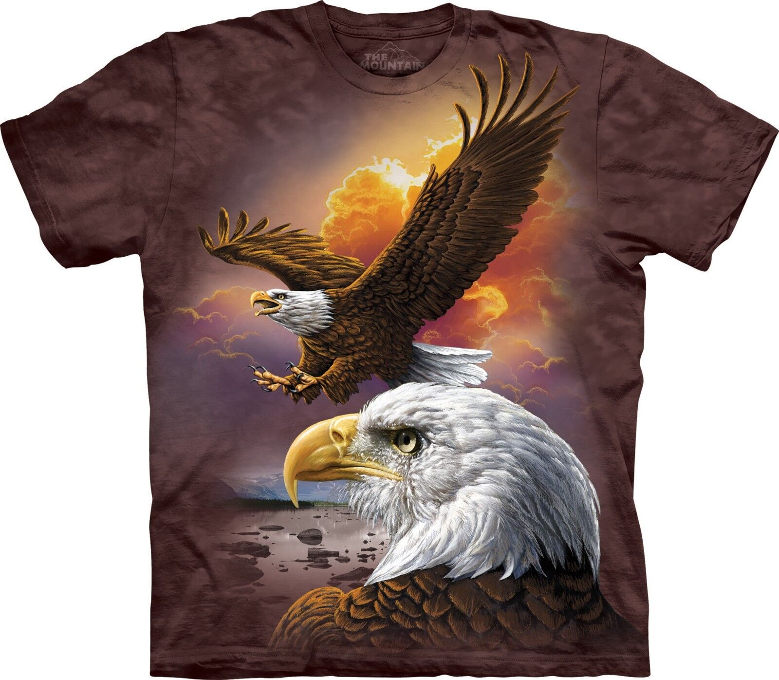 Eagle & Clouds Birds T Shirt Adult Unisex The Mountain