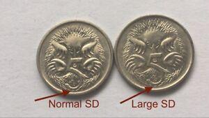1994-Australian-5-Cent-LARGE-SD-Error-Coin-Variety-Scarce-2-Coin-Set