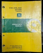 John Deere 9100 9200 9300 Amp 9400 Tractors Operator Manual Omar165770 D9 T 3