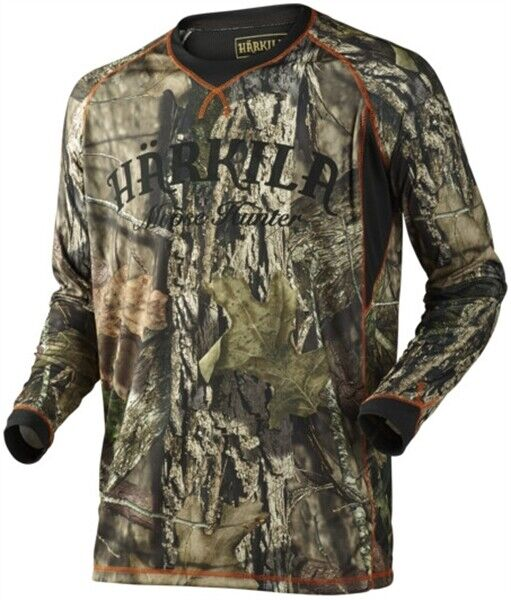 Harkila Moose Hunter Long Sleeve T Shirt Men's Camo Country Hunting Shooting