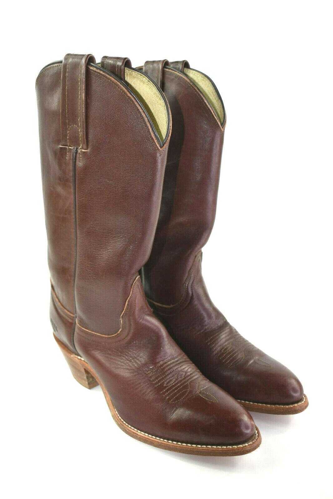 Frye Cowboy Western Stiefel Braunes Leder Damen Größe 8B