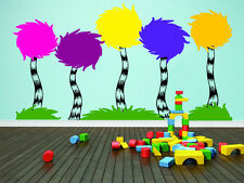 Dr Seuss Truffula Trees Assorted Set Vinyl Decal Wall
