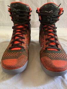 Details about Nike Kobe IX 9 Elite Strategy Mens Basketball Shoes 10.5  Sequoia Green/Orange