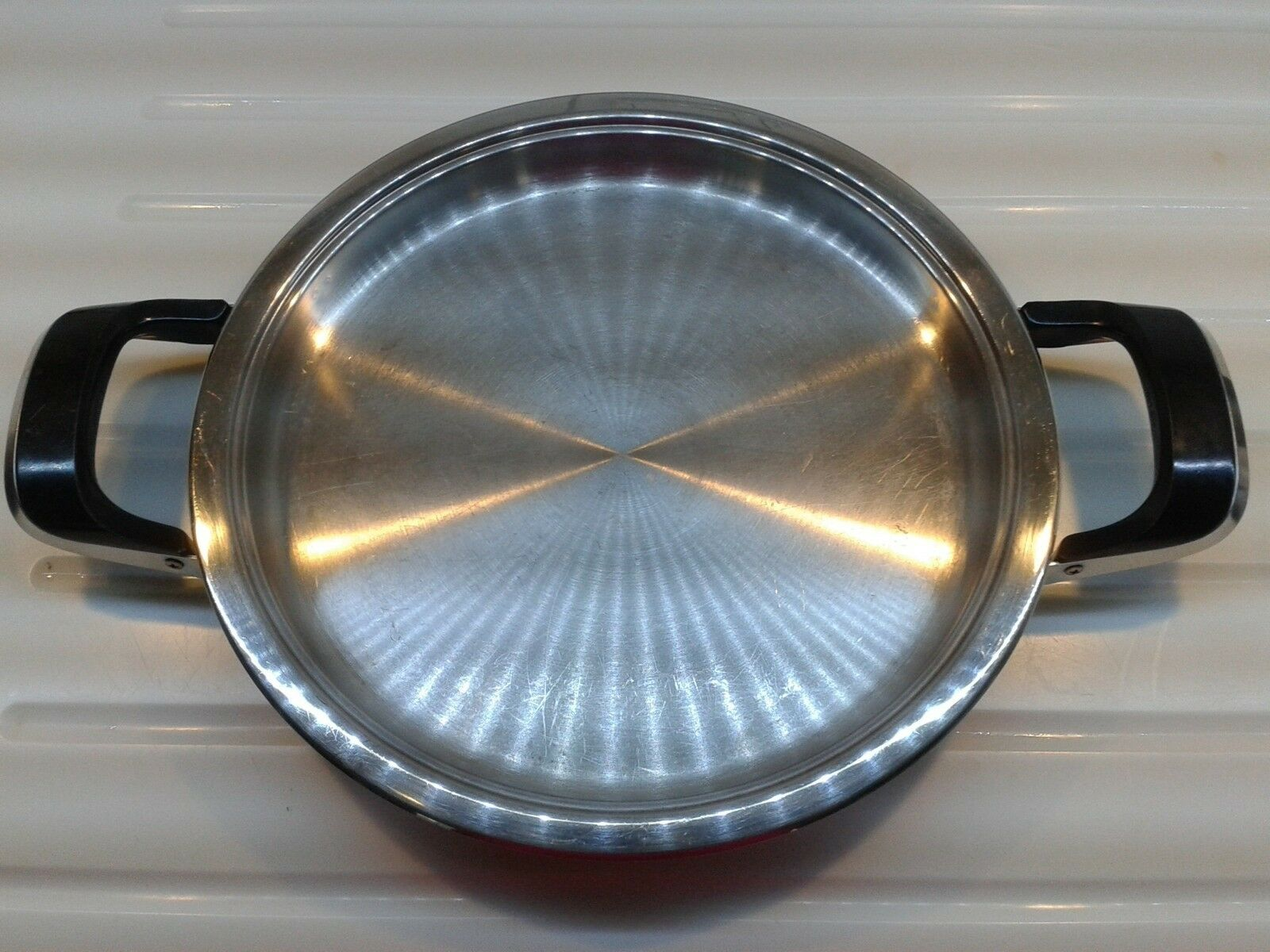 Original amc Griddle sartén olla sartén 24 cm de acero inoxidable bien cuidadas 45 (23-95)