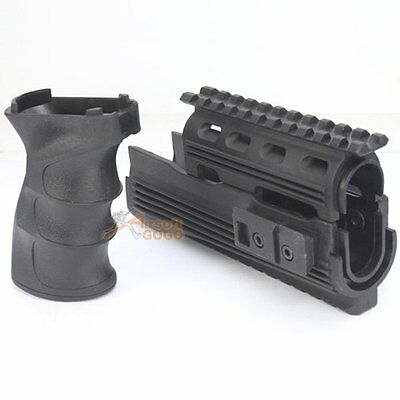 CYMA Rail Handguard and Tactical Grip for Airsoft AK47 AKfourty-seven Series AEG