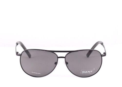 New GANT Polarized Sunglasses Moresby Black 63-12-135 Retail $100+