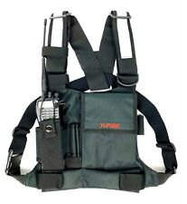 X Fire Single Radio Chest Harness With Tool Pockets And 3m Reflective Strips