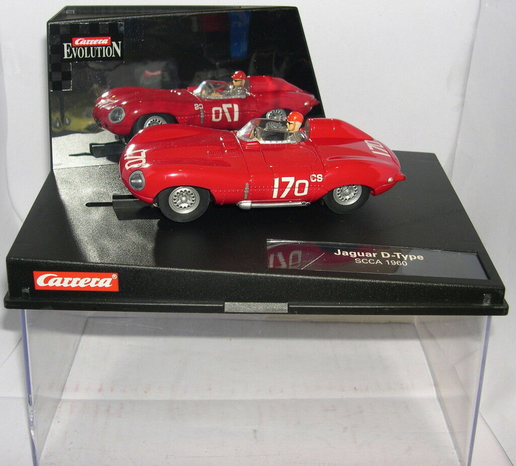 CARRERA EVOLUTION 25709 SLOT CAR JAGUAR D- TYPE SCCA ' 60 MB