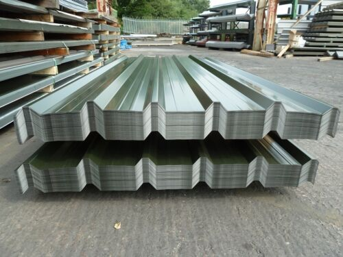 Metal Roofing Sheets Box Profile Roofing Sheets Slate Blue//Grey /& Juniper Green