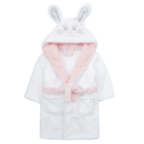 Childrens Infants Girls Novelty Bunny Snuggle Fleece Dressing Gown ~ 2-6 Yrs