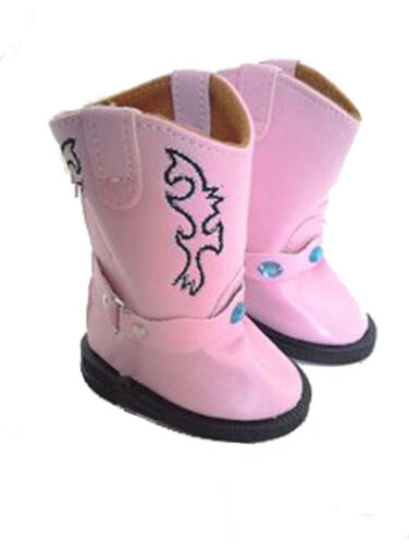 Pink Cowboy Boots Fits 18 inch American Girl Dolls