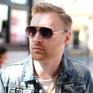 Classic-Square-Aviator-Metal-Bar-Designer-Men-Shades-Retro-Fashion-Sunglasses