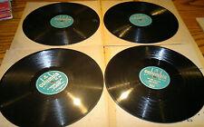 "Various Artists -Job lot of 4-Columbia Green Label-78RPM-Gramophone Records 10"""