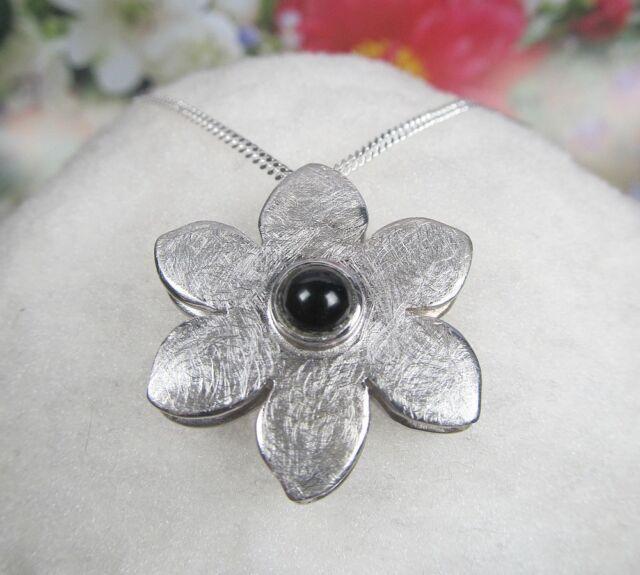 Blumen  Anhänger 925 er Silber
