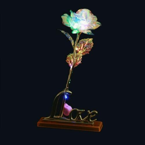 Galaxy Rose Flower Valentinstag Liebhaber Gift romantisch  Blume mit Love Base